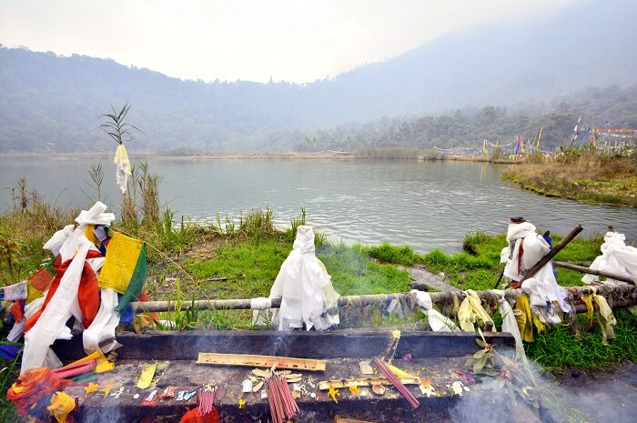 A snap of the Khecheopalri Lake in West Sikkim
