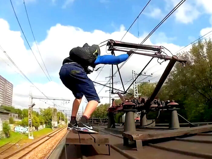 train surfing adventure sport