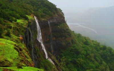 waterfall on the hills of Matheran