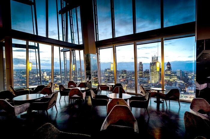 Aqua Shard Restaurant in London
