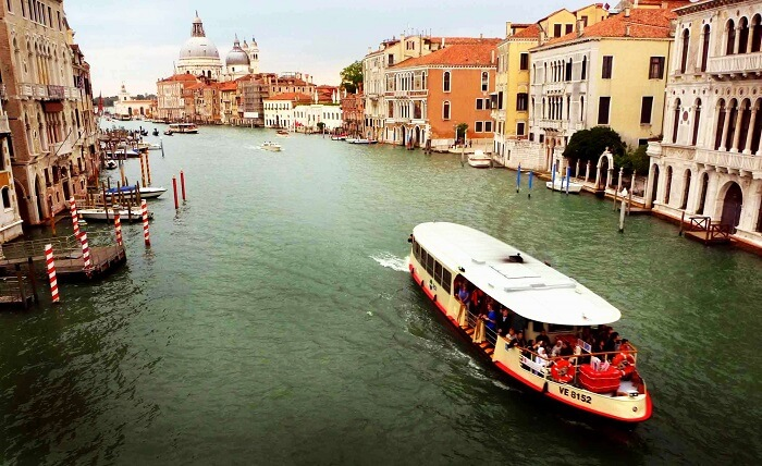 Vaporettos in Venice