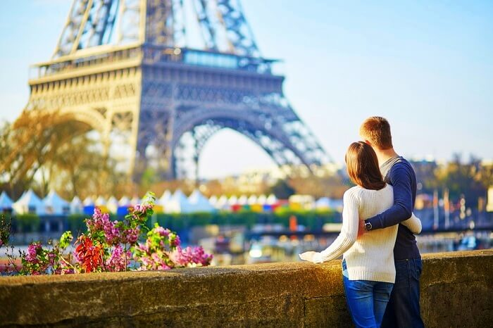 Romantic couple in Paris