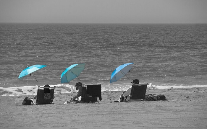 Parasol Sunbathe Beach Vacation Sunshade Holidays