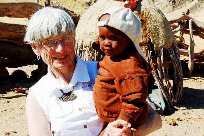 June Scott in Namibia