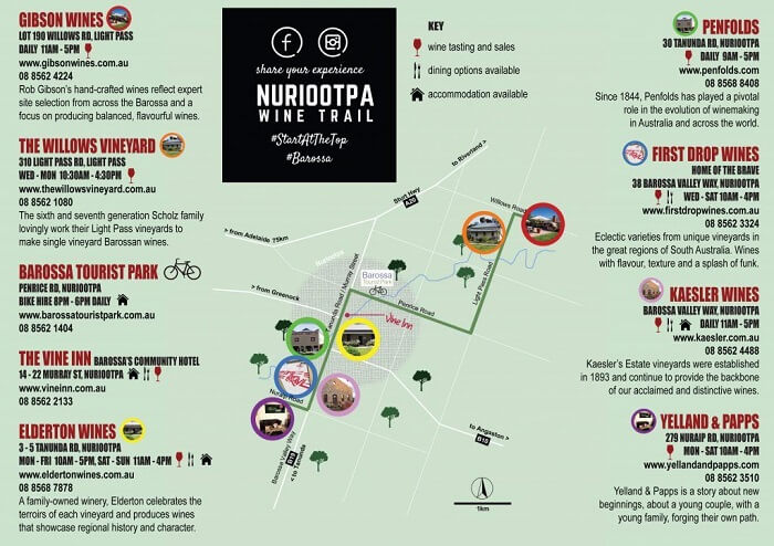 Wineries On Nuriootpa Wine Trail