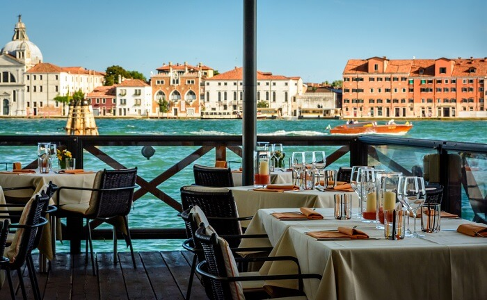 Dining By The Canal Venice