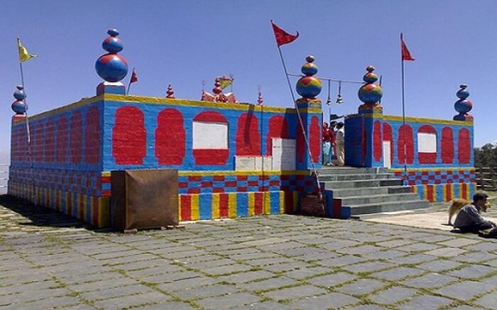 A colourful roofless temple