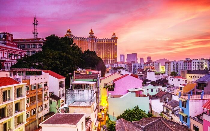 A colourful village in macau