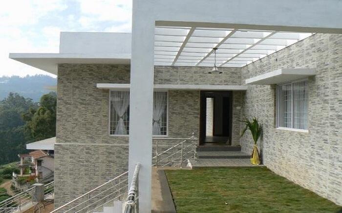 A modern cottage villa in mountain