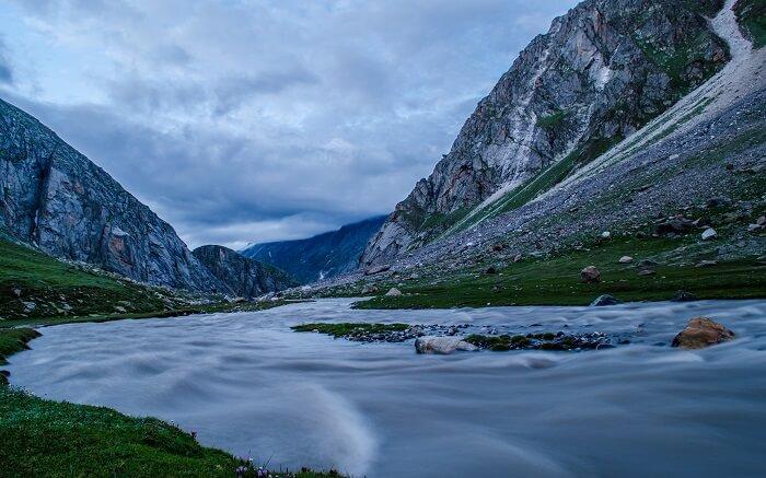 Beautiful view of river Siagoru in Himachal
