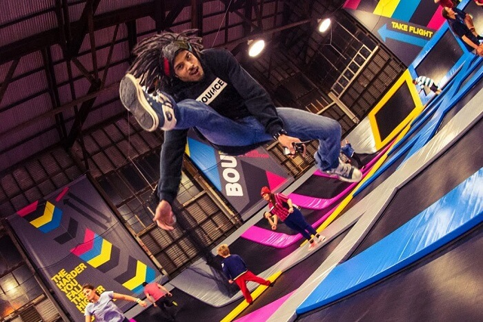 bounce away at Bounce Trampoline Park