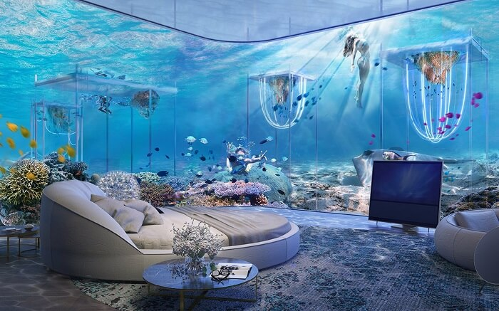 dubai undersea resort accommodationg