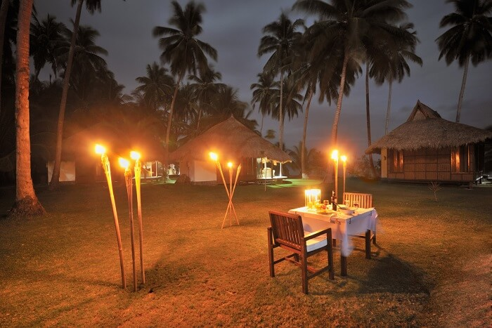 Candle Light Dinner On the Beach in Gokarna
