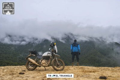 Phobjikha to Bumthang: Siddharth looking at views