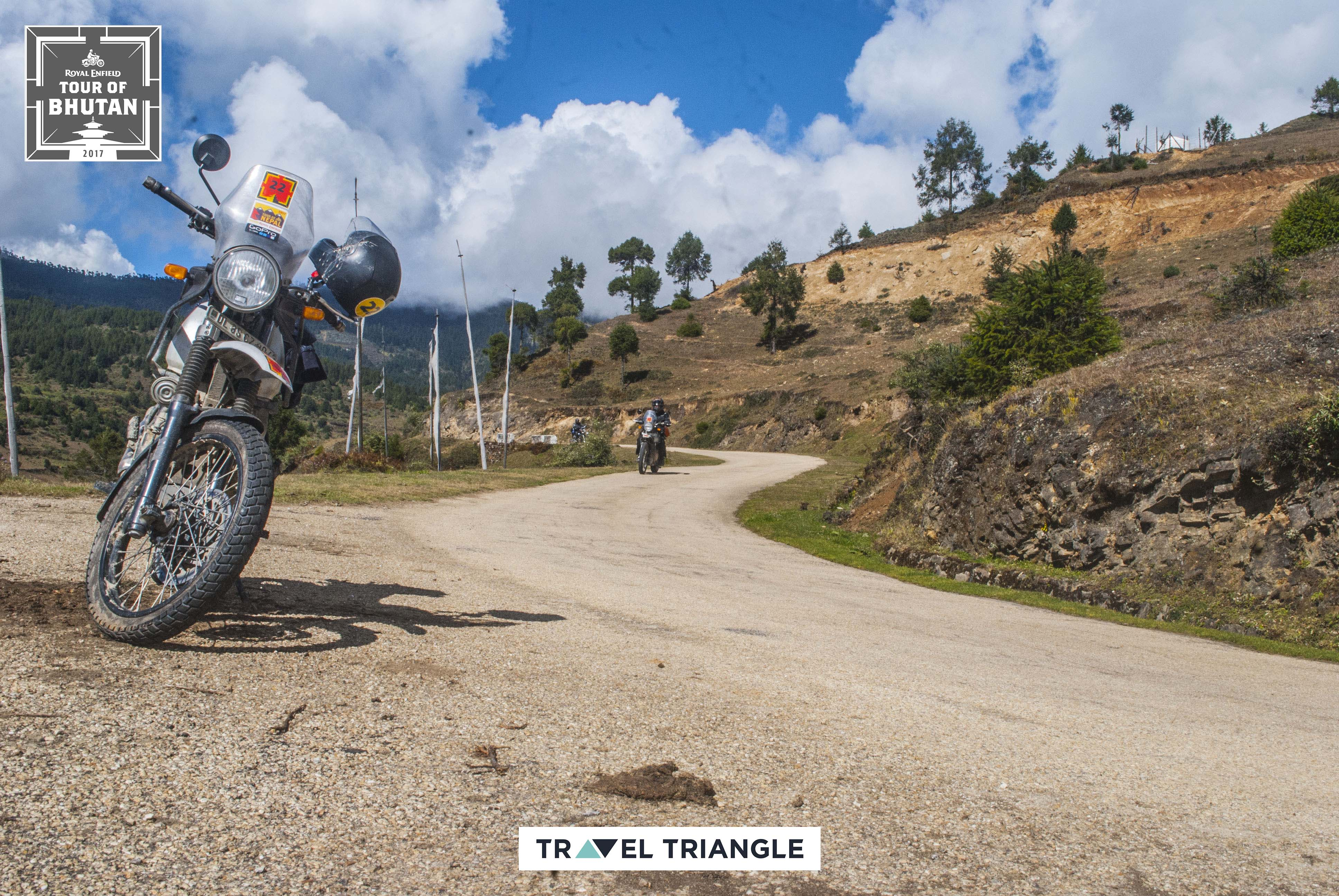 Bumthang to Mongar: showing off the bike royal enfield