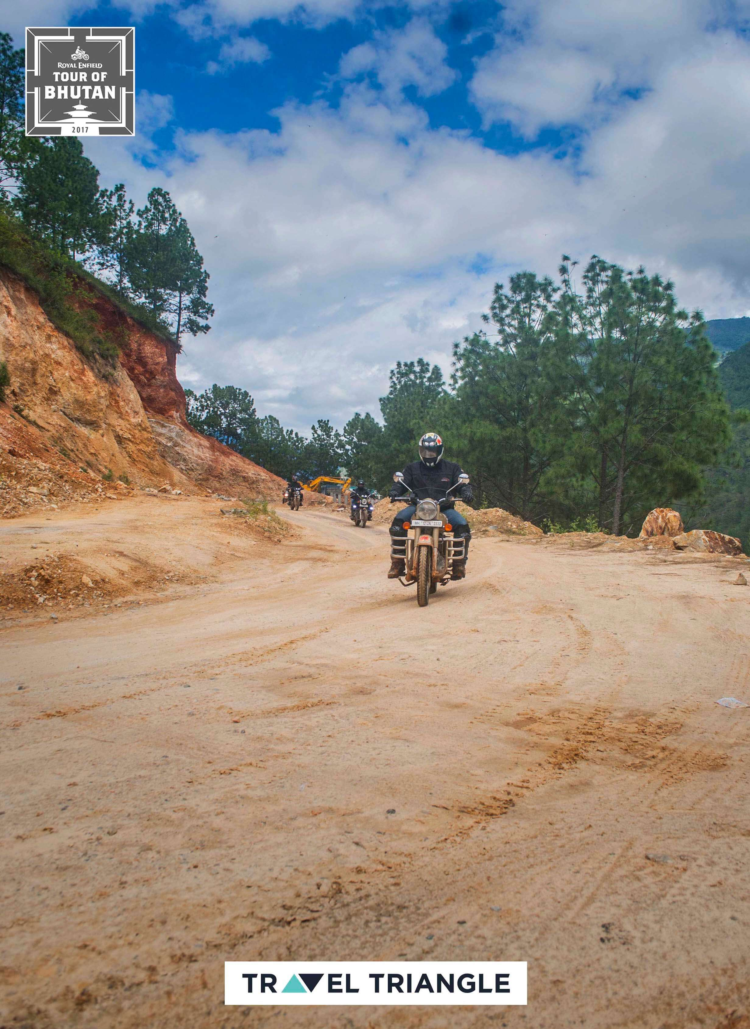 Mongar to Trashigang: a rider riding off