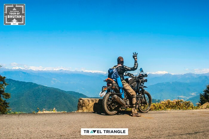 riding in bhutan on the royal enfield road trip