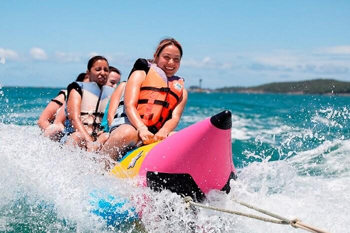 Enjoy A Banana Boat Ride At OM Beach in gokarna