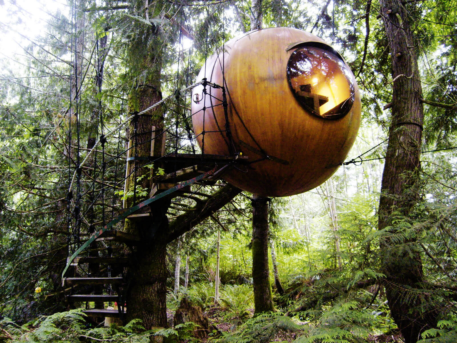 Free Spirit Spheres Treehouse in Vancouver Island in Canada