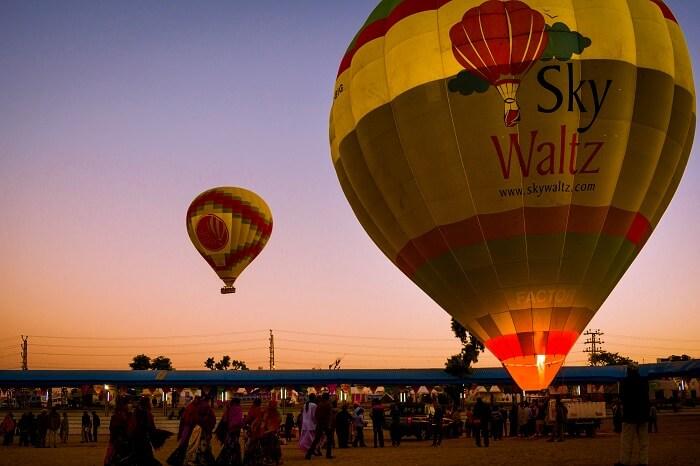 hot air balloong flight