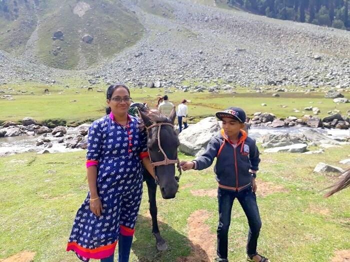 horseback in kashmir