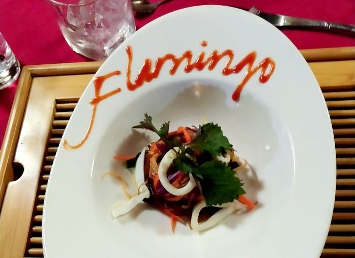 delicious meal on ha long bay cruise