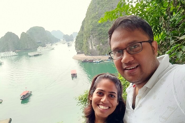 overlooking ha long bay
