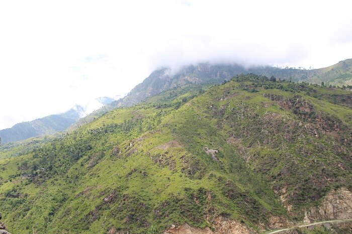 scenery on way back to delhi in gramphu
