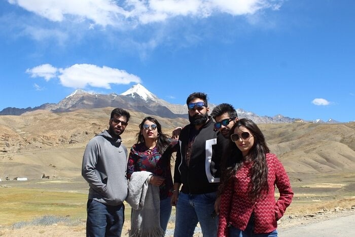 puneet and friends on spiti trip