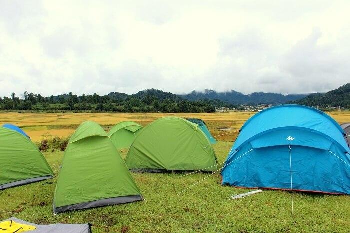 camping in ziro