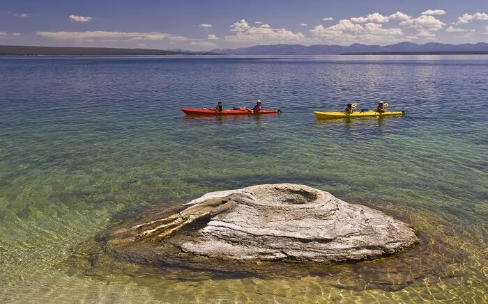 Kayaking n Yellowstone National Park