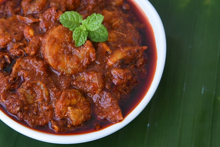 savour the taste of Kerala Style Prawn Curry