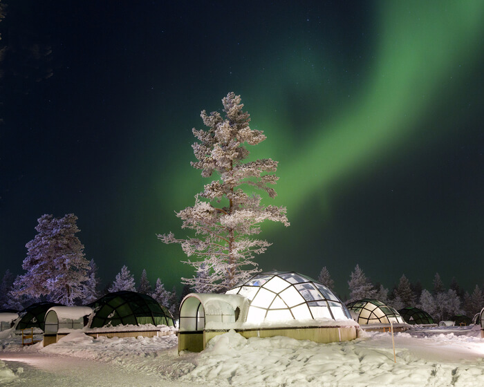 Lapland glass igloo