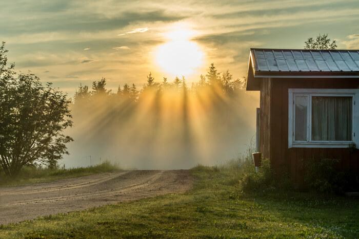 Midnight sun in Lapland