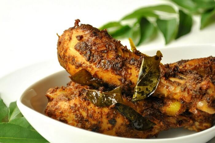 have fried chicken - Nadan Kozhi Varuthathu in Kerala