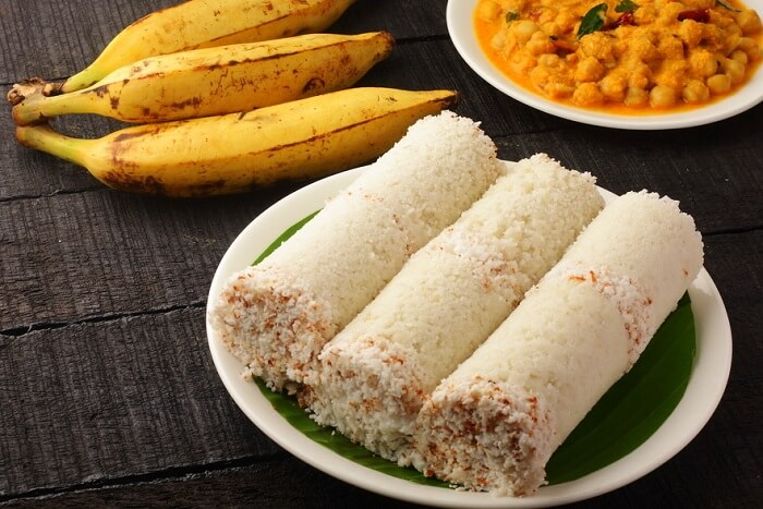 have Puttu with Kadala Curry in kerala