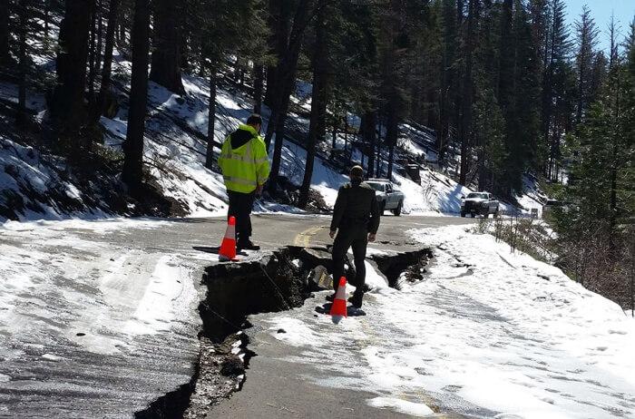 Skiing And Snowboarding At Tioga Pass