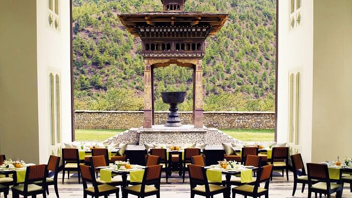 The Thongsel restaurant in Bhutan