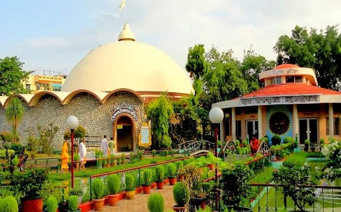 The entrance of Shanti Kunj in Haridwar