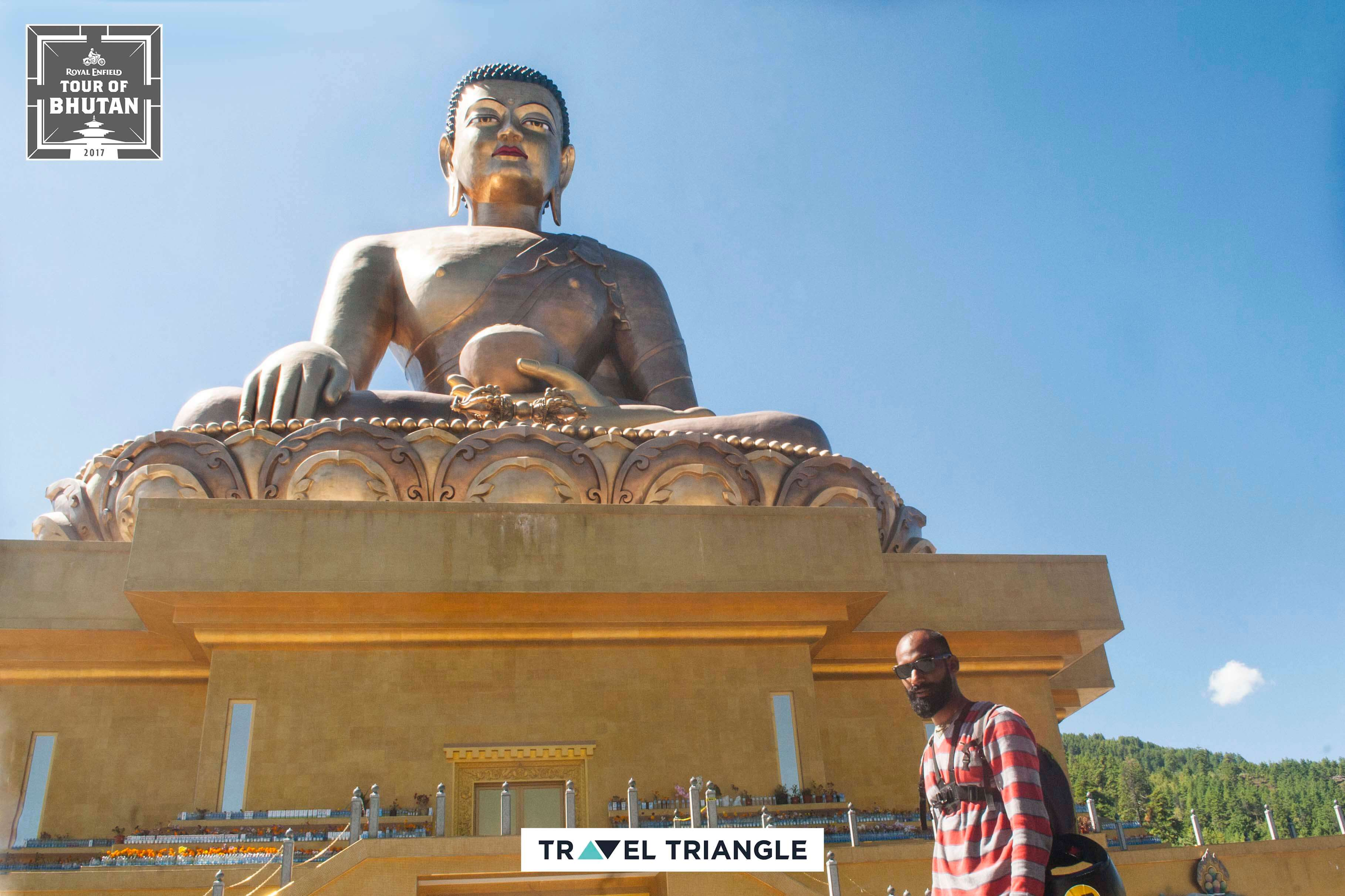 Thimphu: Exploring Buddhist temples on the royal enfield bike trip