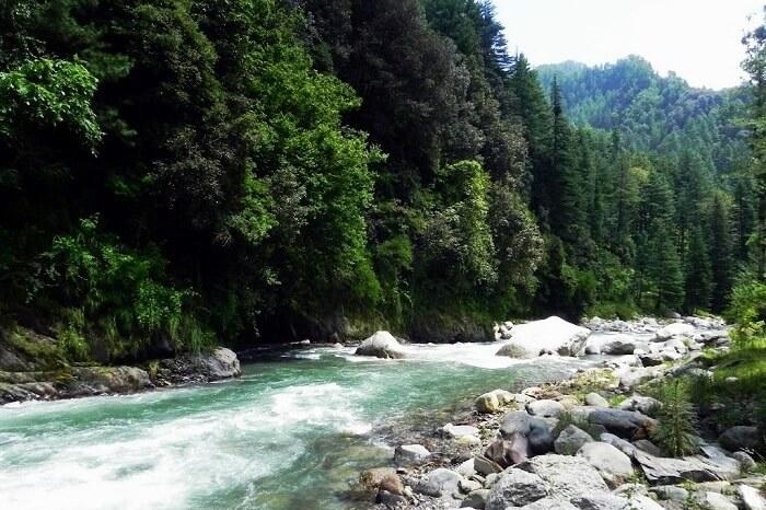 Uhl River in Barot