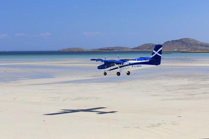 plane runway near beach