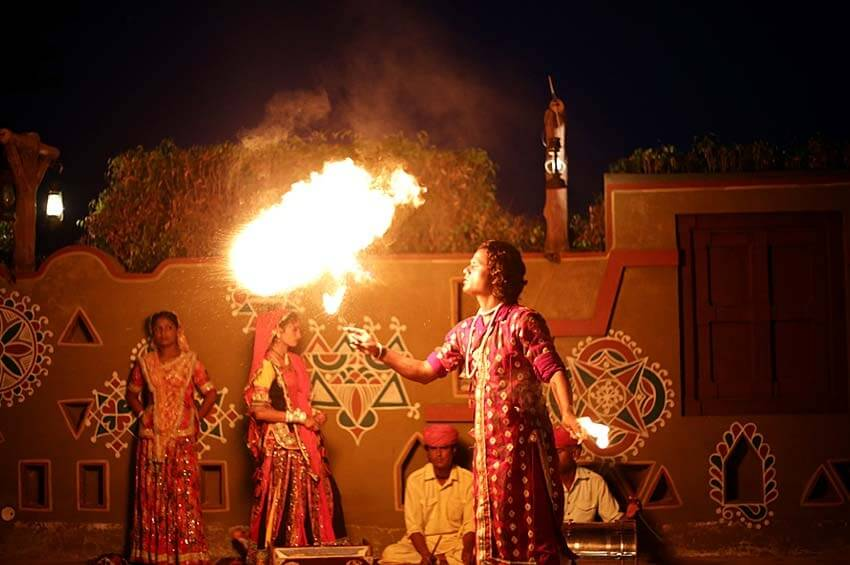 fire performance in Chokhi Dhani