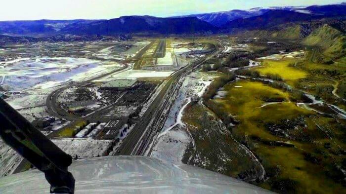 runway view through plane