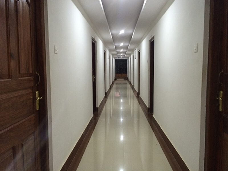 a beautiful corridor of the hotel