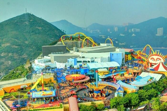 The summit of Ocean Park Hong Kong