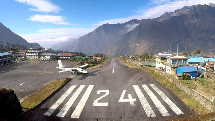Plane at lukla airport