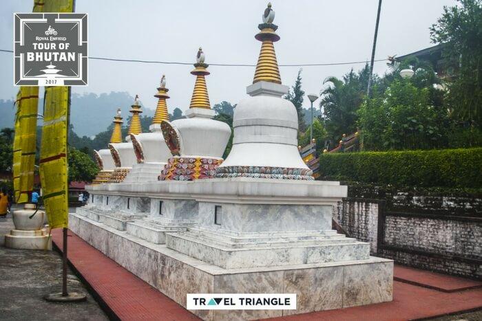 exterior white domes of monastery in kharbandi