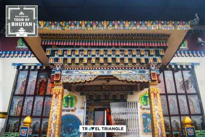 doors of monastery in kharbandi