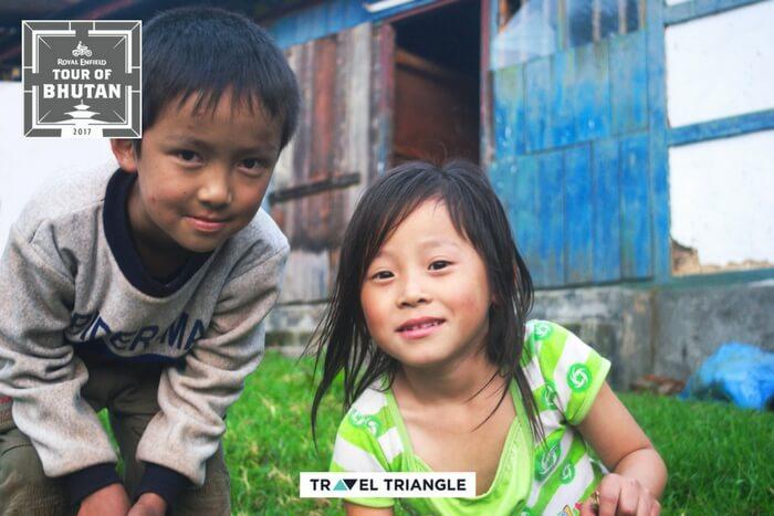 Bhutanese kids in paro